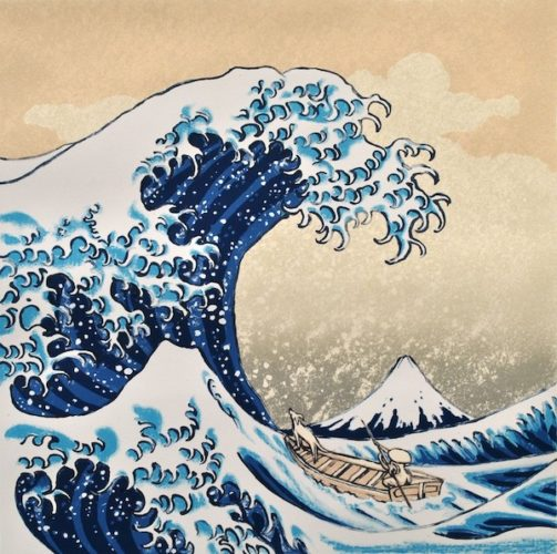 Hokusai's Dog by Mychael Barratt