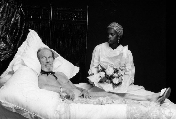 Hume Cronyn (as Manet's Olympia) by Nancy Ellison