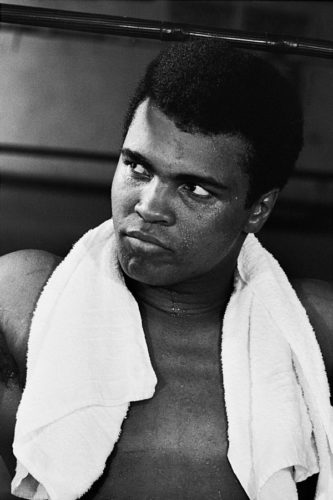 Ali (portrait) Training – Ali With Towel by Neil Leifer at