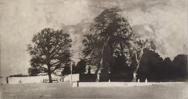 At Thirsk Hall by Norman Ackroyd