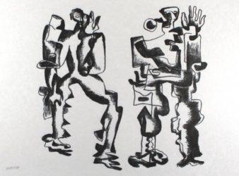 Deux Figures by Ossip Zadkine at Sylvan Cole Gallery