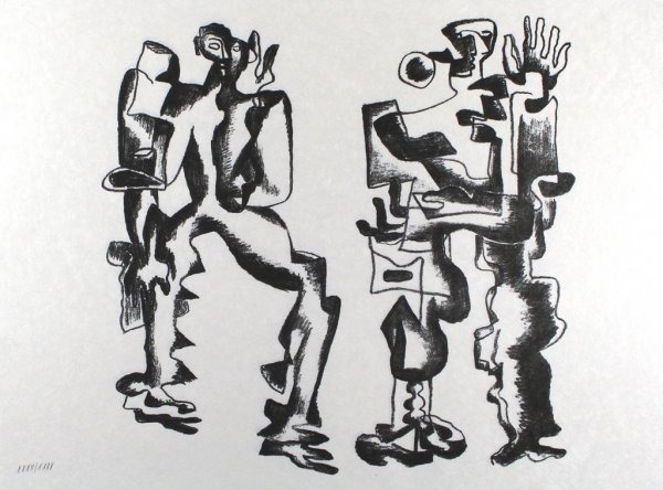 Deux Figures by Ossip Zadkine