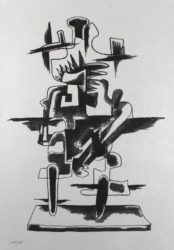 Le Merveilleux Radeau by Ossip Zadkine at Sylvan Cole Gallery