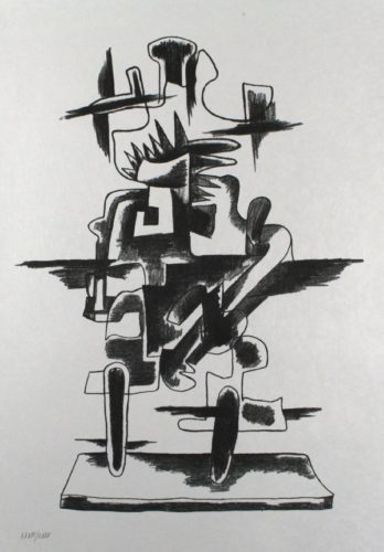 Le Merveilleux Radeau by Ossip Zadkine at