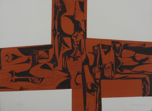 Lidice 1 by Oswaldo Guayasamin at