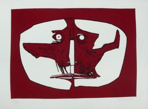 Mascara 1 by Oswaldo Guayasamin at
