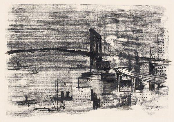 Brooklyn Bridge by Otto Rudolf Schatz at