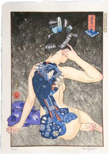 A Hundred Shades Of Ink Of Edo: Eisen's Blue-printed Pictures by Paul Binnie