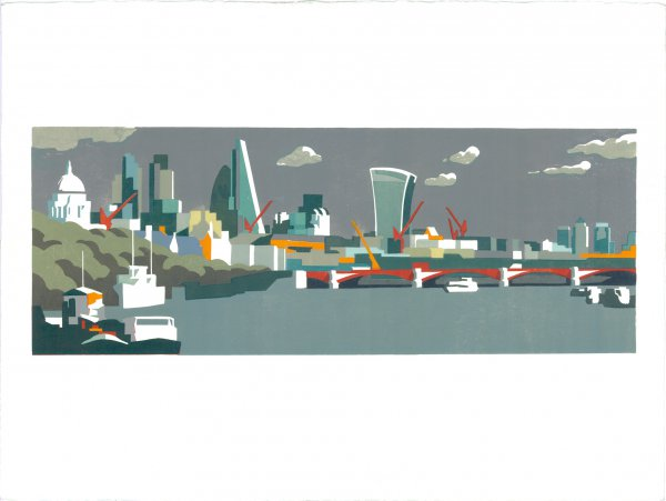 City Of London Grey by Paul Catherall