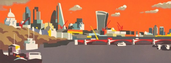 City Of London Orange by Paul Catherall