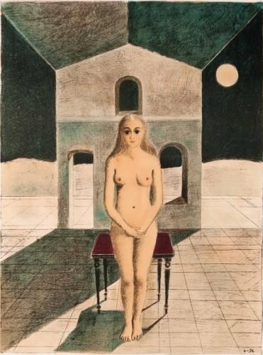 La Voyante by Paul Delvaux at