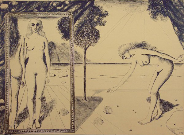 The Beach by Paul Delvaux at
