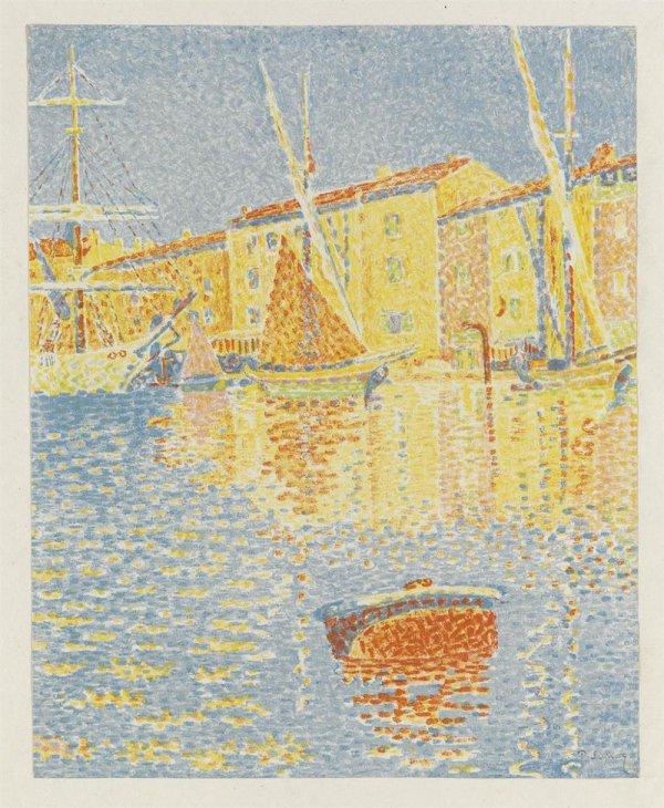 La Bouee (saint-tropez: Le Port) by Paul Signac