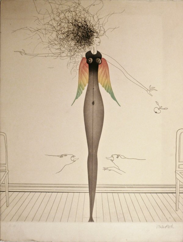 Tangled Hair by Paul Wunderlich