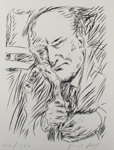 Giuseppe Ungaretti by Pericle Fazzini