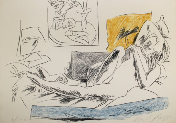 Reading Nude by Pericle Fazzini