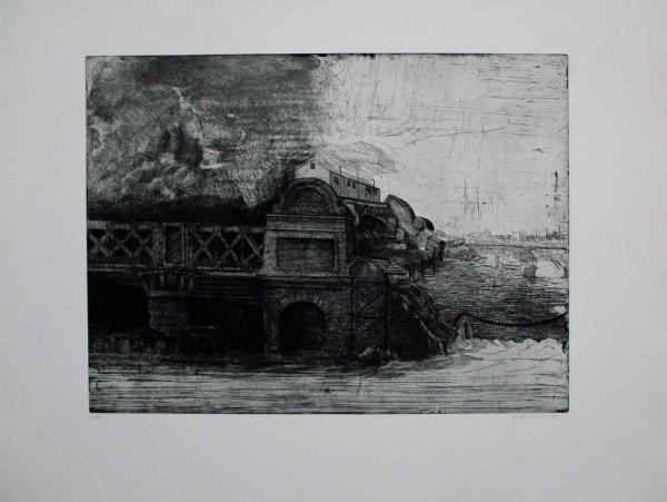 Eisenbahnbrücke / Railroad Bridge by Peter Ackermann at