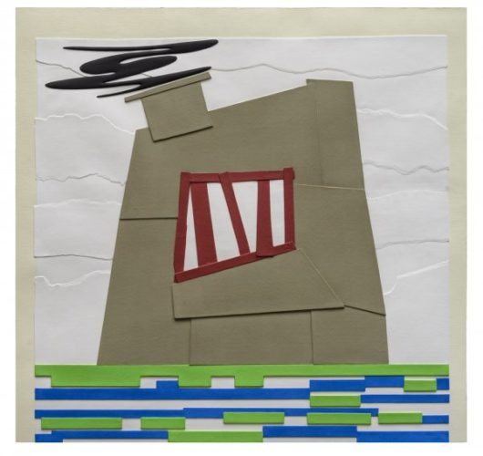 Prison With Smokestack I by Peter Halley at