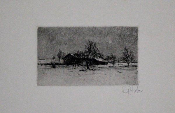 Eingeschneiter Hof by Peter Halm