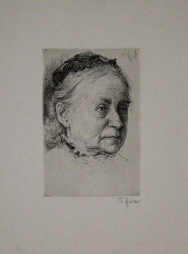 Portrait Einer Alten Dame by Peter Halm