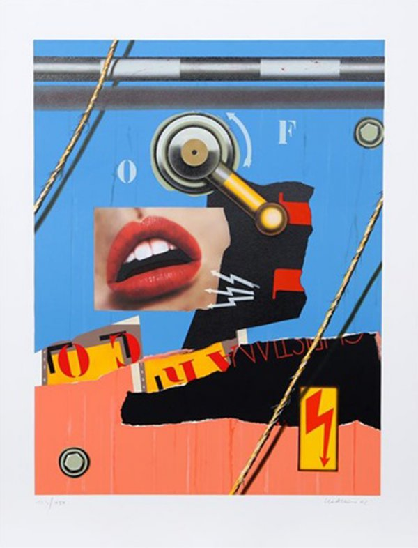Bouche Chaine by Peter Klasen