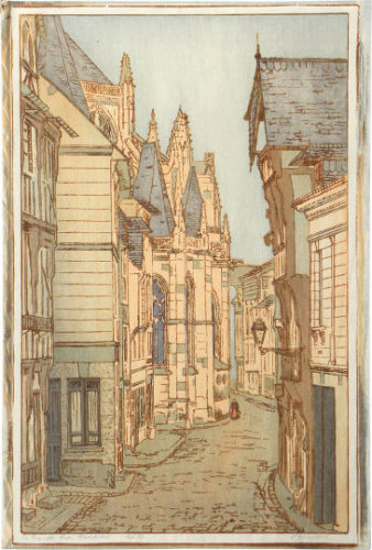 La Grande Rue, Caudebec by Philip Gregory Needell