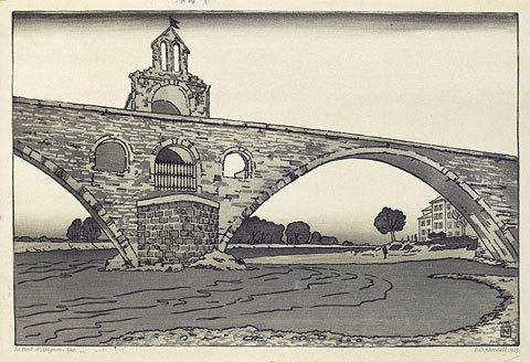 Le Pont D'avignon by Philip Gregory Needell