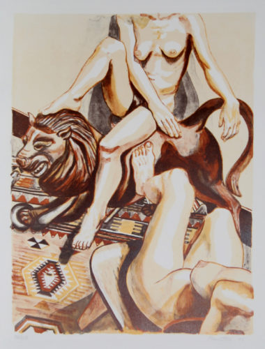 Two Nude Women by Philip Pearlstein at