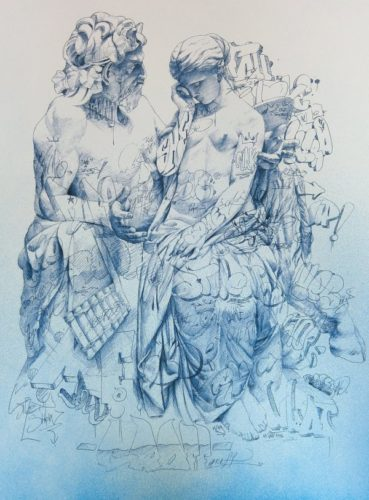 Pan Comforting Psyche by Pichiavo