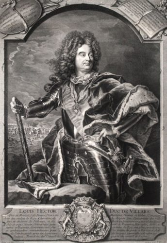 Claude-louis-hector, Duc De Villars Maréchal De France by Pierre Drevet at