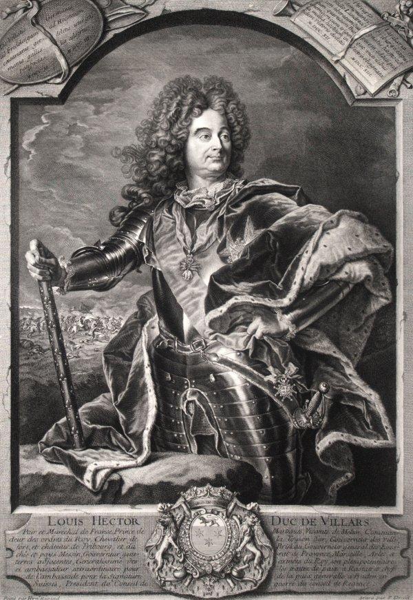 Claude-louis-hector, Duc De Villars Maréchal De France by Pierre Drevet