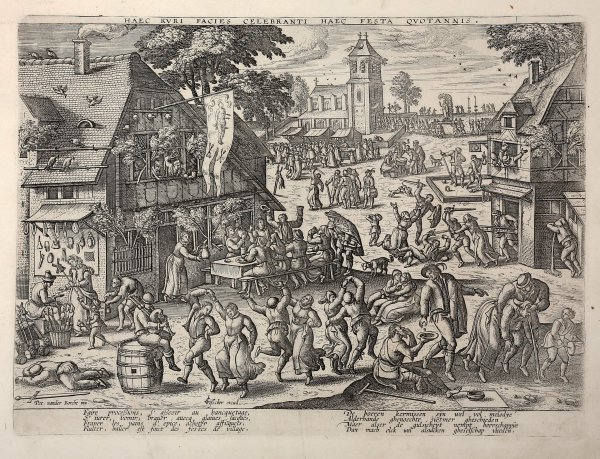 St Sebastian's Fair by Pieter van der Borcht at