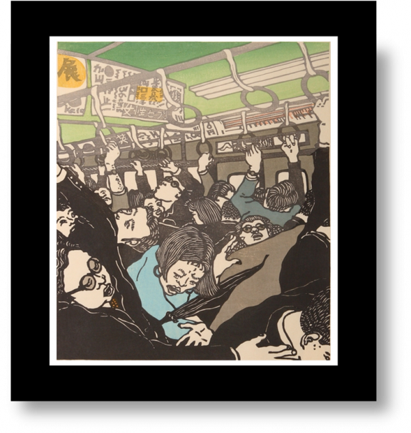 Shinjuku Train by Ralph Kiggell