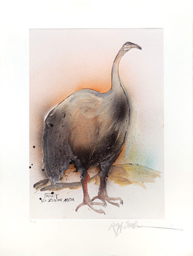 Extinct New Zealand Moa by Ralph Steadman