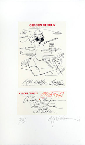 Hunter S. Thompson, Twisted Meat Artist. by Ralph Steadman