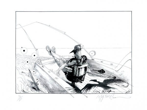 Lono's Fighting Chair. by Ralph Steadman