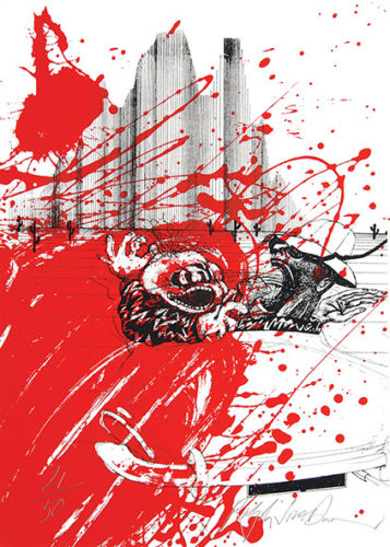 Red Shark by Ralph Steadman