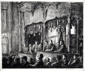 Irving Place Burlesk by Reginald Marsh at Harris Schrank Fine Prints (IFPDA)