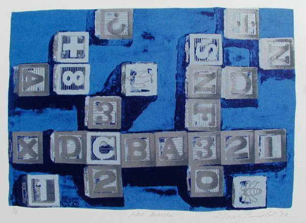 Abc Blocks (blue) by Rica Bando