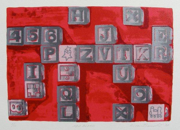 Abc Blocks (red) by Rica Bando