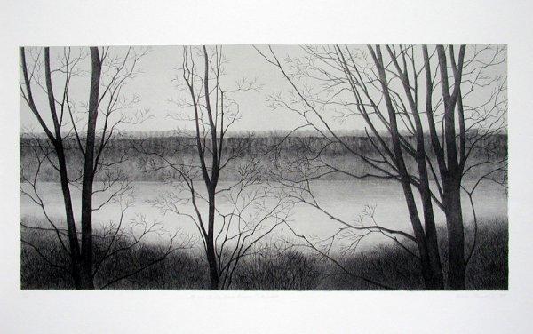 Dawn, The Hudson River by Rica Bando