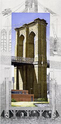 Brooklyn Bridge by Richard Haas at