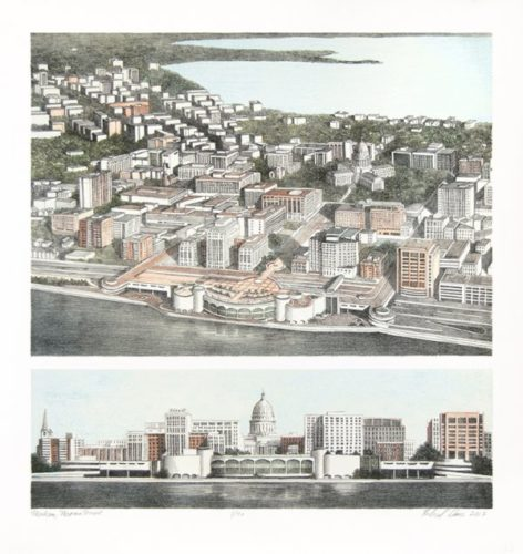 Madison, Monona Terrace by Richard Haas at