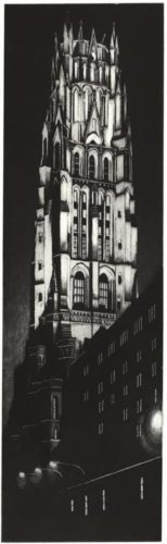 Night View Of Riverside Church by Richard Haas