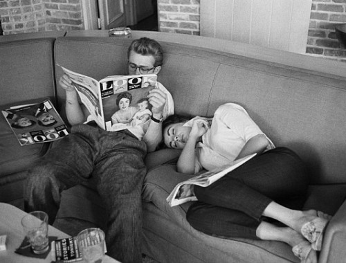 James Dean And Elizabeth Taylor by Richard Miller at