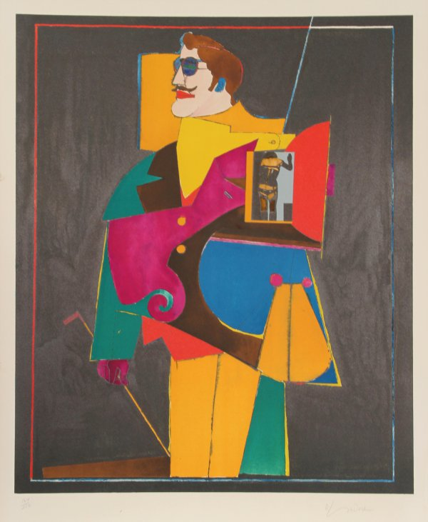 """Heart From The """"after Noon"""" Portfolio by Richard Lindner"""