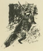 Renard Chassant / Fox Hunting (i.e., The Fox Is Doing The Hunting) by Roger Reboussin