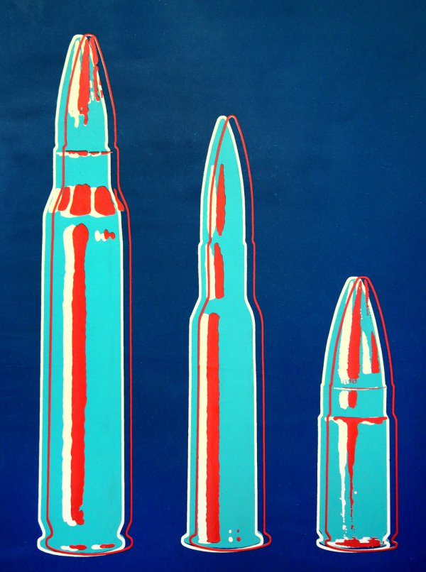 Large, Medium, Small (red, White, And Blue) by Rubem Robierb