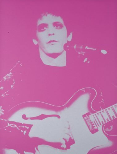 Lou Reed, Walk On The Wild Side, by Russell Young at