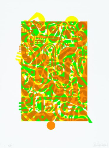 Untitled (fluorescent Women Parts) 1 by Ryan McGinness